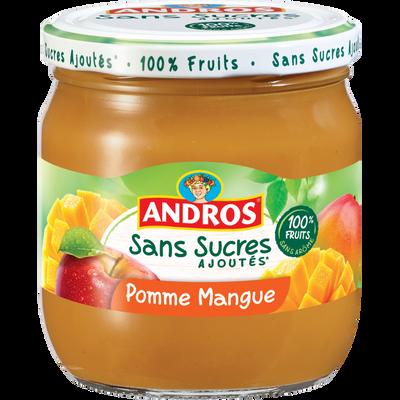 Dessert pomme mangue sans sucres ajoutés, ANDROS, bocal de 410g