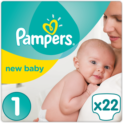 Couches nwe baby premium Protection PAMPERS 3-4kg paquet Taille 1 x22