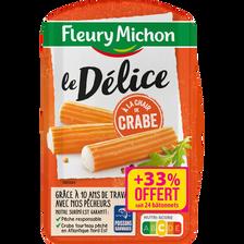Fleury Michon Délices À La Chair De Crabe , 300g + 33% Offert