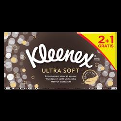 Mouchoirs ultra soft KLEENEX, 2 boîtes de 72 + 1 offert