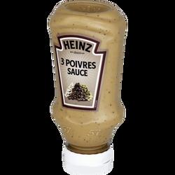 Sauce 3 poivres HEINZ, flacon souple de 220ml