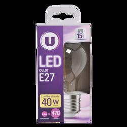 Ampoule led premium U ronde 40w e27 verre filament
