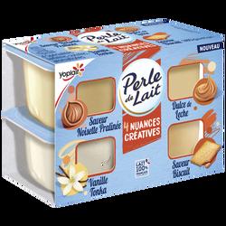 Spécialité laitière sucrée aromatisée PERLE DE LAIT 4x95g
