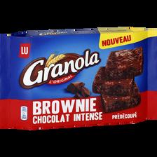 Brownie aux éclats de chocolat intense à partager, GRANOLA LU, 220g