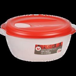 Boîte hermétique eden air U MAISON, ronde, avec valve, 1,2 litres,rouge