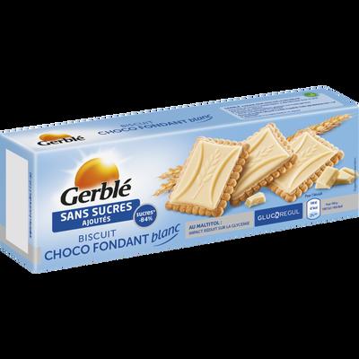 Biscuit choco fondant blanc sans sucres ajoutés GERBLE, 126g