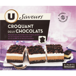 Croquant aux 2 chocolats U SAVEURS, 400g