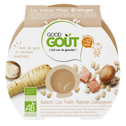 Le Petit Plat Beige, Haricots Coco Poulet fermier Champignons  - Good Gout