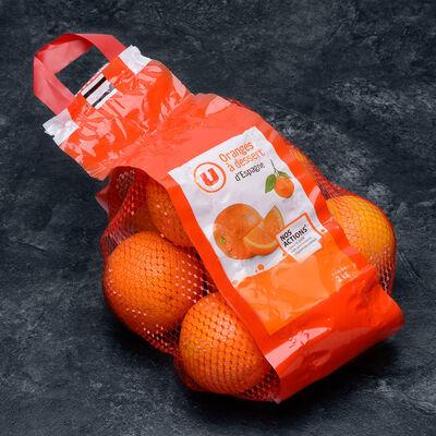 Orange à dessert Navel Powell, U, calibre 4/5, catégorie 1, Espagne, girsac 2kg