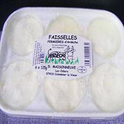 Faisselles fromage blanc Maisonneuve 6x125g