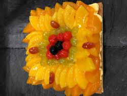 TARTE AUX FRUITS.6 PERS FABRICATION MAISON