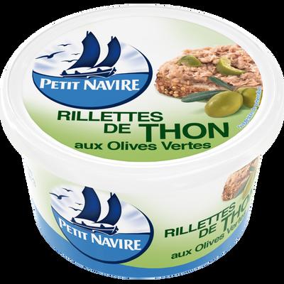 Rillettes de thon aux olives vertes PETIT NAVIRE, boîte 1/6, 125g