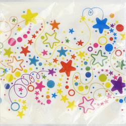 Serviettes Joyeux anniversaire MELI MELO, 33x33cm, 20 unités