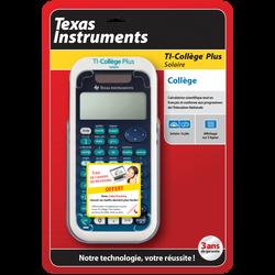 Calculatrice scientifique TEXAS INSTRUMENT TI college plus solaire