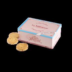 Sablé nature et caramel BISCUITERIE LA SABLESIENNE, paquet de 300g