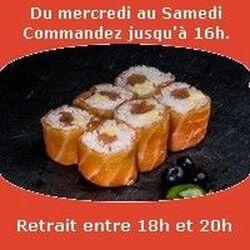 Saumon rolls 6 pièces,Saumon fumé reblochon,SUSHI MONT BLANC