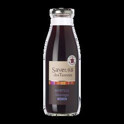 Nectar de myrtille sauvage SAVEURS DES TERROIRS, bouteille 75cl