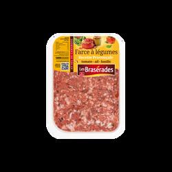 Farce à légumes (tomate 8%/basilic 1,5%), France, barquette, 400g