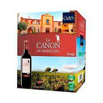 """Vin rouge bio Le Canon du Maréchal """"Domaine Cazes"""", 13°, 3l"""