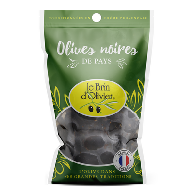 Olives noires BRIN D'OLIVIER, sachet de 150g