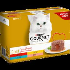 GOURMET gold coeur fondant thon/saumon/truite/colin , 12x85g