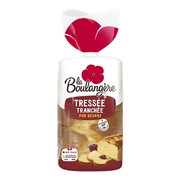 La Boulangère Brioche Tressée Tranchée Pur Beurre La Boulangere, 650g