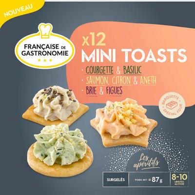 Mini toast 3 recettes FRANCAISE DE GASTRONOMIE, x12 soit 87g