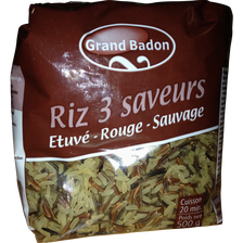 Riz 3 saveurs GRAND BADON, 500g