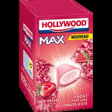 Chewing gum sans sucre frost fruit d'été HOLLYWOOD, maxi lot de 3 étuis, 60g