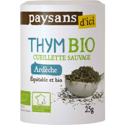 Thym d'Ardèche Bio PAYSANS, flacon de 30g