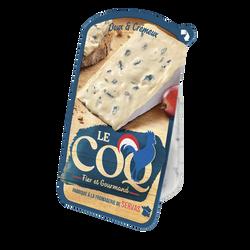 Fromage à pâte persillé au lait pasteurisé LE COQ fier et gourmand portion 125g