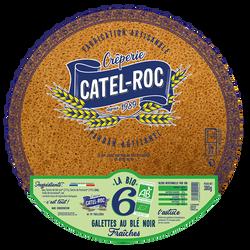 6 Galettes au blé Noir Fraiches BIO, CATEL ROC, 380g