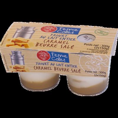 Yaourt caramel beurre salé FERME COLLET, 2x150g