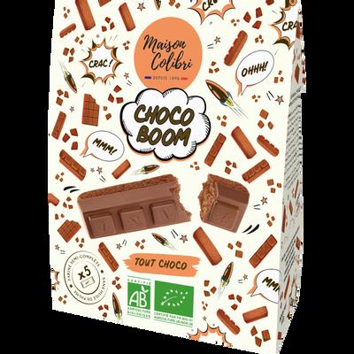 Cake au chocolat moulé au chocolat au lait Bio COLIBRI 140g