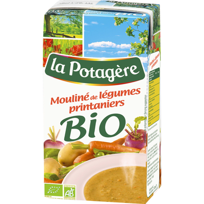 Mouliné légumes printemps bio LA POTAGERE, 1 litre