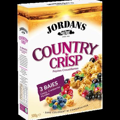 Céréales Country Crisp aux 3 baies JORDANS, paquet de 550g