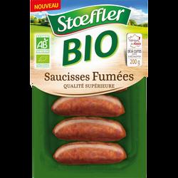 Saucisses fumées bio STOEFFLER, 4 unités, 200g