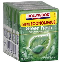Chewing-gum Greenfresh sans sucres HOLLYWOOD, x5