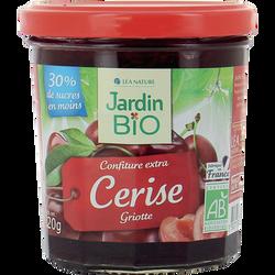 Confitures de cerise bio JARDIN BIO, bocal 320g