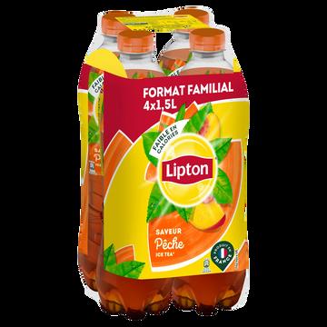 Lipton Boisson Lipton Ice Tea Goût Pêche - Pack Bouteilles 4x1,5l