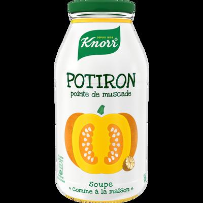 """Soupe """"comme à la maison"""" potiron pointe muscade KNORR, bouteille de 45cl"""