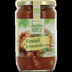 Ravioli farcies épinards ricotta bio JARDIN BIO 675g