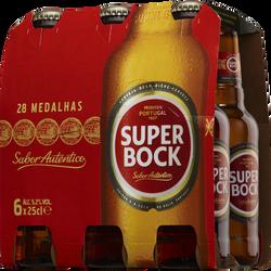 Bière blonde super bock 5°2 pack 6x25cl