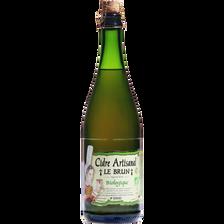 Cidre artisanal LE BRUN agriculture biologique, 5,5° bouteille de 75cl