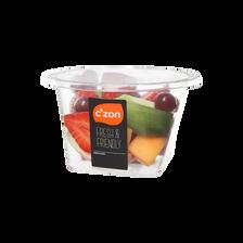 Salade de fruits pomme/melon/kiwi/fraise/raisin, CZON, bol, 240g