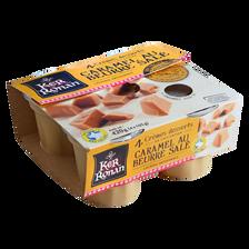 Crème dessert caramel au beurre salé KER RONAN, 4x105g