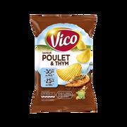 Vico Chips Saveur Poulet Et Thym Vico, -30%mg, 120g