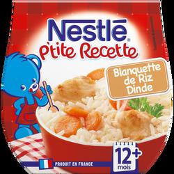 P'tite Recette blanquette riz dinde NESTLÉ, 2 bols de 200g