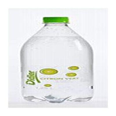 Eau minérale naturelle gazeuse aromatisée citron vert sans sucre DIDIER, bouteille de 1,25l