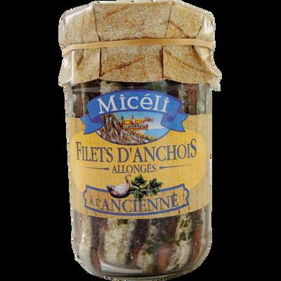 """Filets d'anchois à l'huile d'olive """"A l'Ancienne"""" MICELI, 105g"""